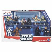 Playskool Star Wars Galactic Heroes Rivals Lot Yoda Vader Skywalker Rey Kylo Ren