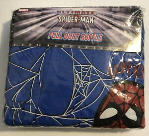 """""""Full Size"""" Bed~Dust Ruffle Marvel Comics New 2003 Spider Man Free Shipping"""