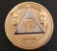 Alcoholics Anonymous Bill W Bi Plated 8 Year Aa Medallion Coin Token Chip Viii
