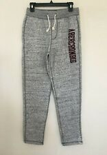 NWT Abercrombie & Fitch Mens Applique Logo Sweatpants Heather Grey XS