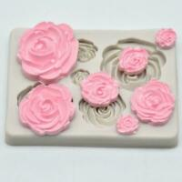 3D Rose Flower Soft Silicone Fondant Chocolate Mould Sugarcraft Cake Decor Y3Q4