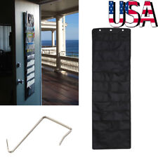 Heavy Duty Wall File Chart - 2x Stitched - Hanging Paper Organizer Door Mounted