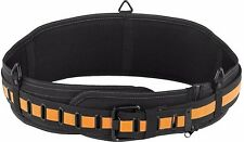 TOUGHBUILT Padded Belt With Steel Buckle and Back Support Black Heavy Duty New