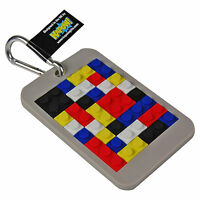 Brick Toy Luggage Tag. Suitcase Holiday Baggage Clip Travel Cool Gift