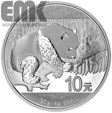 China - 10 Yuan 2016 - Panda Bär - 30 Gramm Silber Münze Stempelglanz ST