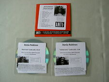 XENIA RUBINOS job lot of 3 promo CDs Black Terry Cat Lonely Lover Black Stars