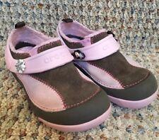 Crocs 11 Girls Pink Brown Suede Fleece Lined Mulan Minnie Jibbetz Dawson