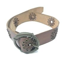 Abercrombie And Fitch Women's Wide  Leather Belt Cut Outs Sz S/M 186.119