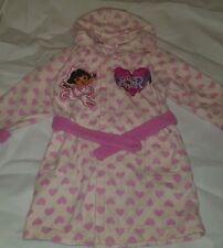 Gorgeous cream NICKELODEON DORA THE EXPLORER fleece robe pyjama Age 1 2 Years