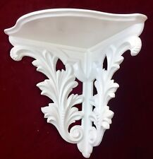 Wall Console Antique White Barok Corner Shelf H: 28 B :3 0 T: 23 Eck Table