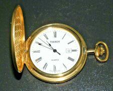 Tissot Swiss Quartz Pocket Watch 7-Jewel Full Hunter Brass Case 1853 Excellent!!