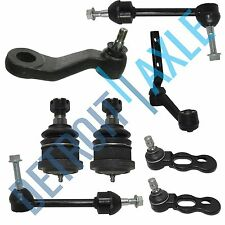 8 PC Kit: 2 NEW Front Stabilizer Bars + 4 Ball Joints + Idler Arm + Pitman Arm