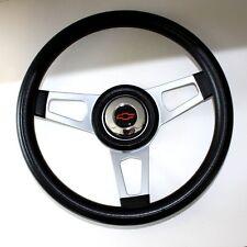"64 65 Chevelle El Camino GRANT Black Steering Wheel Red/Blk 13 3/4"""