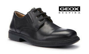 Geox Federico Boys Black Leather School Shoes - Limited Stock