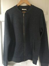 BNWT Navy Jack & Jones Quilted Baseball Zipped Sweat Jacket Size L