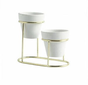 Modern Metal Flower Stand and Pot, for Succulents, Cactus & Small Plants