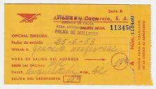 Busticket PALMA - FLUGHAFEN 1953 * Original / gebraucht