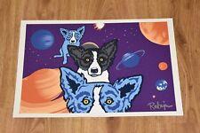 George Rodrigue Blue Dog Tiffanys Universe Silkscreen Print Signed Artwork