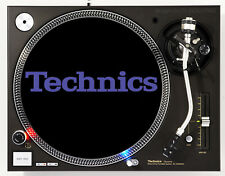 TECHNICS CLASSIC PURPLE ON BLACK - DJ SLIPMATS (1 PAIR) 1200's or any turntable