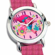 Official Dreamworks Trolls Pink Glitter Analogue Girls Wristwatch - New Movie