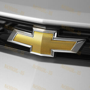For 2014-2018 Chevy Chevrolet Impala Front Grill Grille Bowtie Emblem Gold
