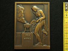 PLAQUE BRONZE ART - R.COCHET - FONDERIE PRO PATRIA - ART MEDAL - 91mm / 68mm