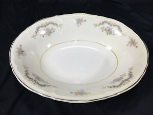 """(1) Edwin Knowles Princess Fine China 9"""" Oval Vegetable Bowl Made In USA 488"""