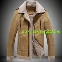 Men fashion Coat Winter Cashmere Wool fur Lined SLim Jacktes Coats Warm hot