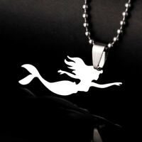 Sea Mermaid Ariel Ocean Unicorn Waves Nautical Fairy Charm Pendant Necklace