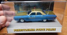 WHITE ROSE PENNSYLVANIA 1972 PLYMOUTH FURY HISTORIC PATROL CAR DIE CAST 1/43 NIB