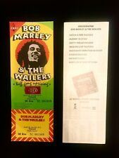 BOB MARLEY REGGAE CONCERT TICKET 1980 FRANCE - VERY RARE IN PERFECT CONDITION.