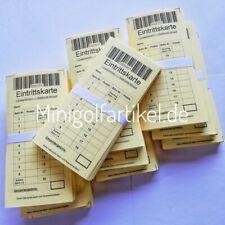 Minigolf Eintrittskarten für Erwachsene, 1000 Stück