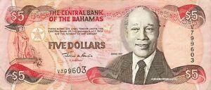 Bahamas 5 Dollars 1997 P-63a