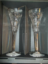 2 Waterford Champagne Glass Toasting Flutes Millennium Collection Prosperity