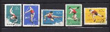 sport  Corée du N 1968 Y&T N°588 à 592 5 timbres oblitérés /T4089