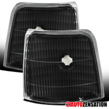 For 1992-1996 F150 F250 F350 Bronco Black Clear Corner Signal Lights Lamps Pair