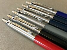 6x Vintage Parker Jotter Pens colored red, black, blue, gray, navy Made in USA