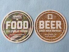Beer Coaster ~ EAGLE ROCK Brewery Public House ~ Los Angeles, CALIFORNIA ~ Food