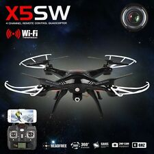 Syma X5SW FPV Real-Time 4Ch 2.4Ghz RC Quadcopter Drone With WiFi HD Camera Black