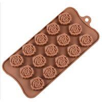 15-Cavity Silicone Flower Rose Chocolate Cake Mold Baking Ice Tray Mould Baking