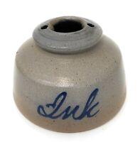 Vintage 1993 Rowe Pottery Works INK WELL Handmade Salt Glazed Stoneware