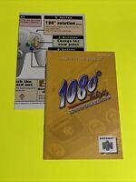 🔥1080 Snowboarding - N64 Instruction Booklet Manual Book Original Nintendo 64