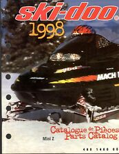 1998 SKI-DOO MINI Z SNOWMOBILE PARTS MANUAL P/N 480 1460 00   (651)