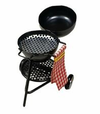 Miniature Dollhouse Round Barbecue Grill 1:12 Scale New