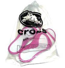 NEW NWT Crocs Sassari Fuchsia Fushia Pink White Low Wedge Sandal Women's SIZE 8