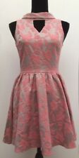 BNWOT New Topshop Retro Vintage Style Fifties Pink Floral Skater Party Dress 10