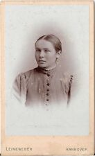 CDV photo Damenportrait - Hannover 1890er