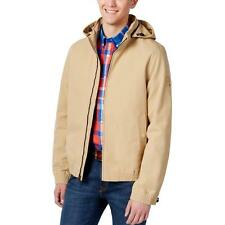 Tommy Hilfiger 5749 Mens Tan Removable Hood Lined Jacket M BHFO
