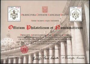 Vatikan Vatican 2012 Block 39 Restaurierung der Kolonnaden MNH