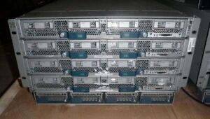Cisco UCS 5108-4x B420 M3-4x E5-4657L V2 Twelve Core 2.4GHz-1.5TB RAM-48x 32GB